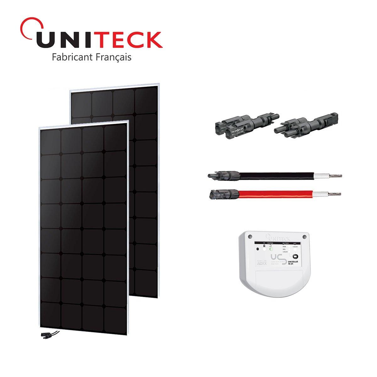 Kit solar 100W back-contact 12V uniteck–Version 2x 50W