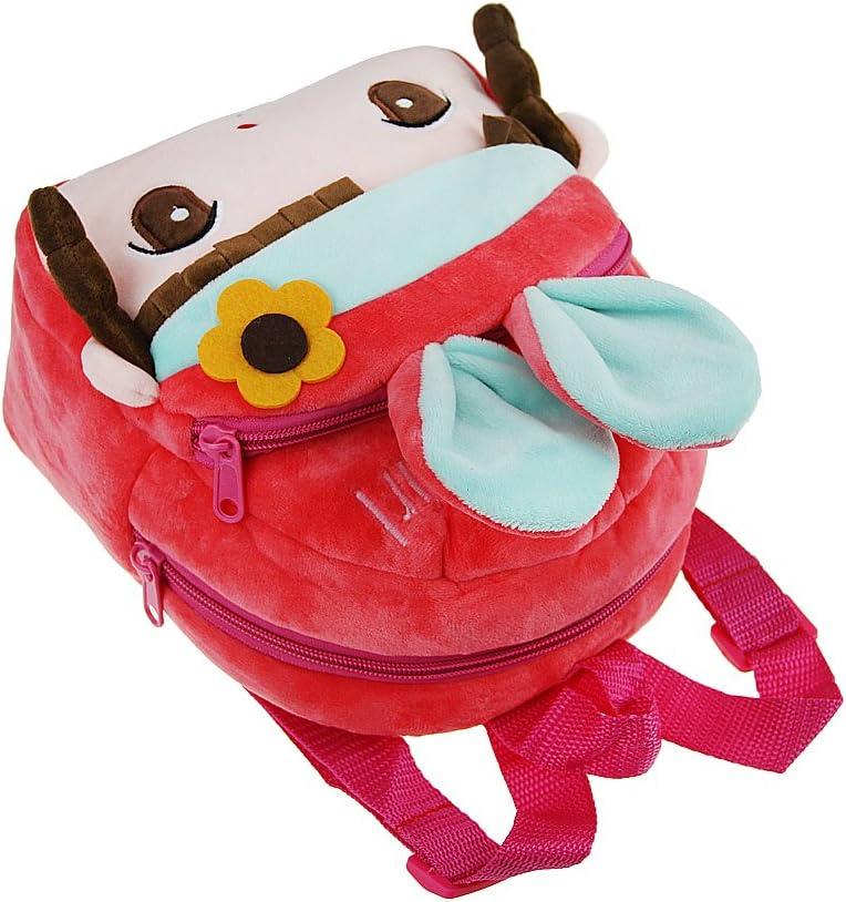 Petit Sac /à Dos en Peluche B/éb/é Enfant Cartoon Cartable Motif de 3D Chat//Poup/ée//Pingouin Adorable Backpack Ecole pour Primaire Maternelle Petit Enfant Fille Gar/çon