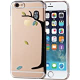 ELECOM iPhone 6s/6 対応 ケース シェルカバー アップルテクスチャ ふくろう  PM-A15PVAT08