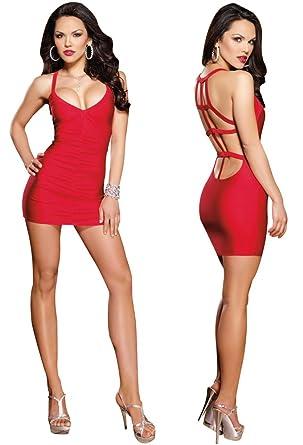 b481bdf5e35 Amazon.com  Sexy Red Low Back Mini Dress - Extra Large  Adult Exotic ...
