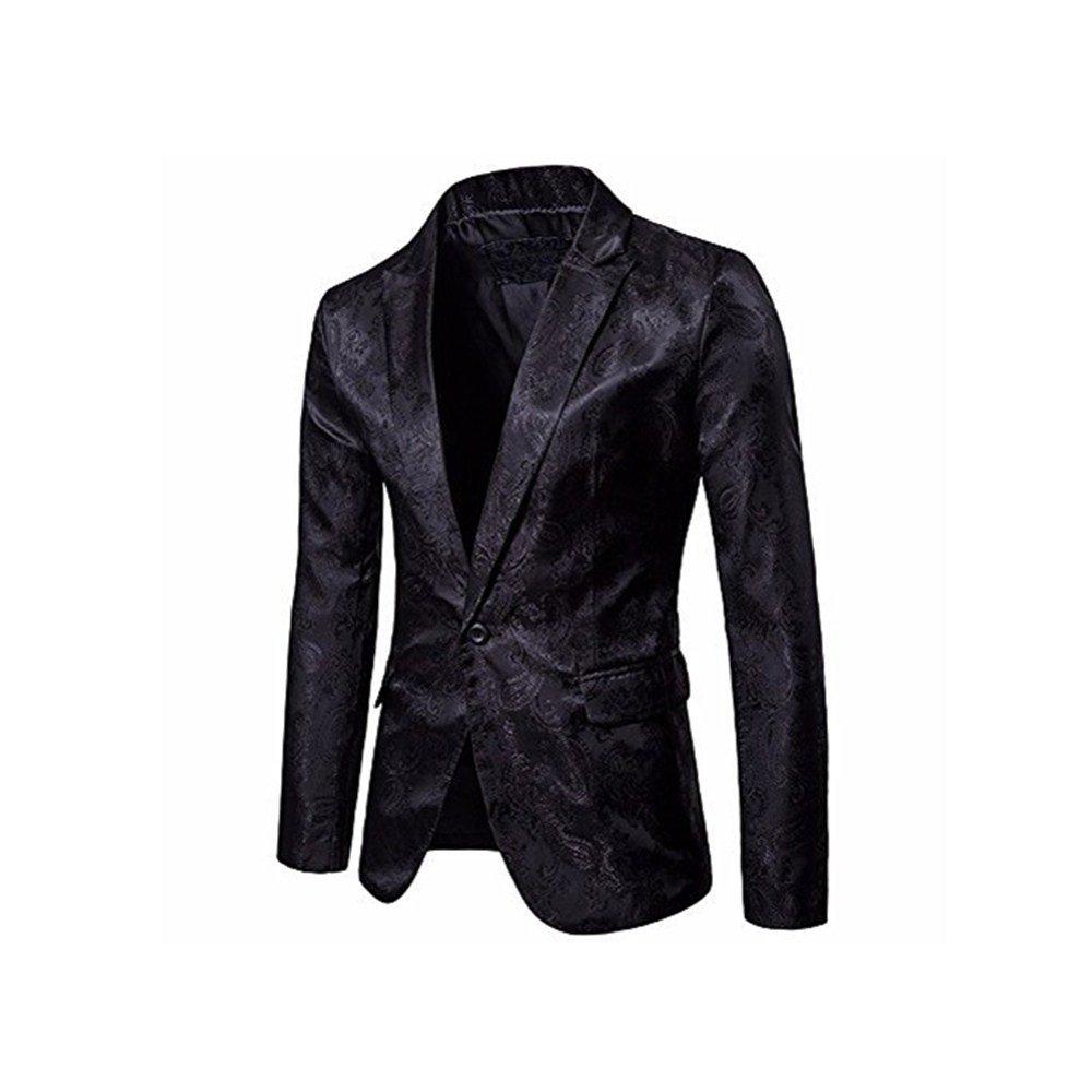 Amazon.com: Mens Dark lines A buckle Suit! Charberry Men Charm Mens Casual One Button Fit Suit Blazer Coat Jacket Tops (US-L /CN-XL, Purple): Baby