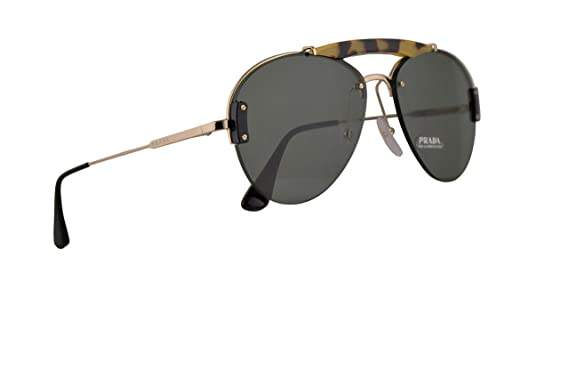 6b9d797af4 Image Unavailable. Image not available for. Color  Prada PR62US Sunglasses  Medium Havana Pale Gold w Light Green 32mm Lens ...