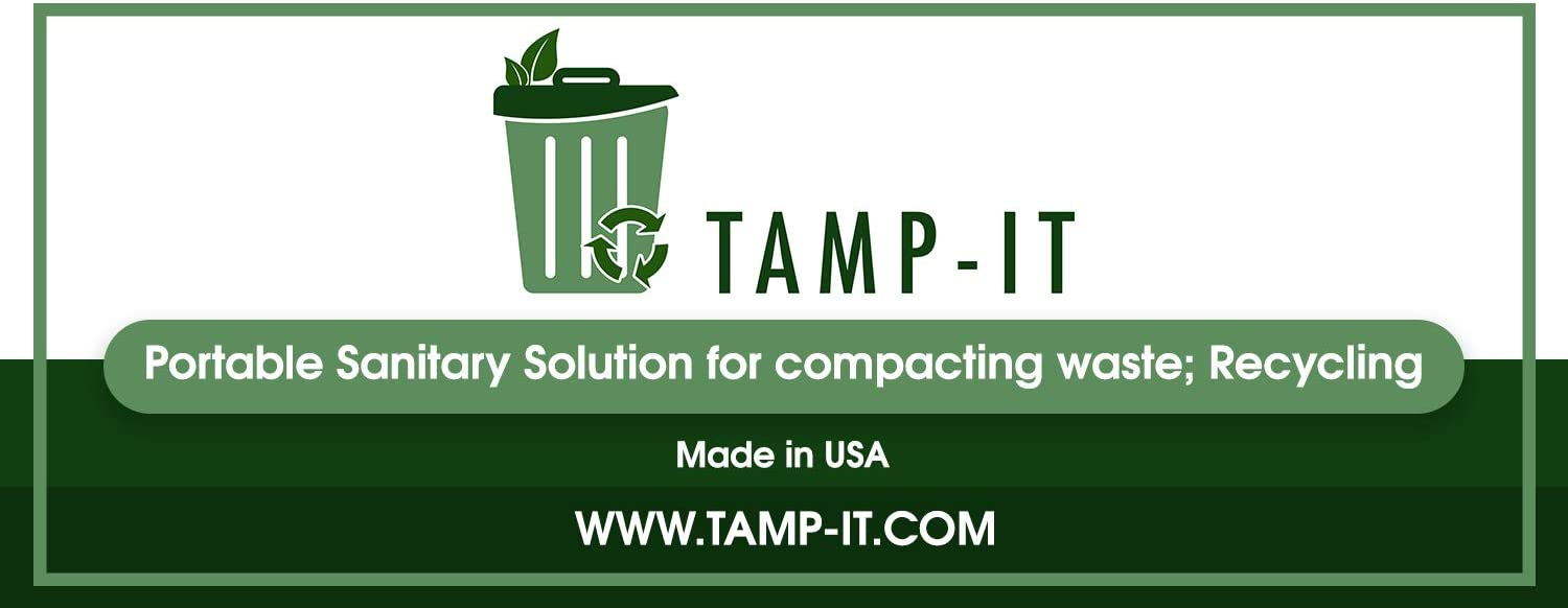 Receptacles Dumpsters Reduce Trips to Dispose Trash Cost Effective TAMP-IT Manual Trash Compactor Frees Up Space in Bins 34 x 7 1//2 D