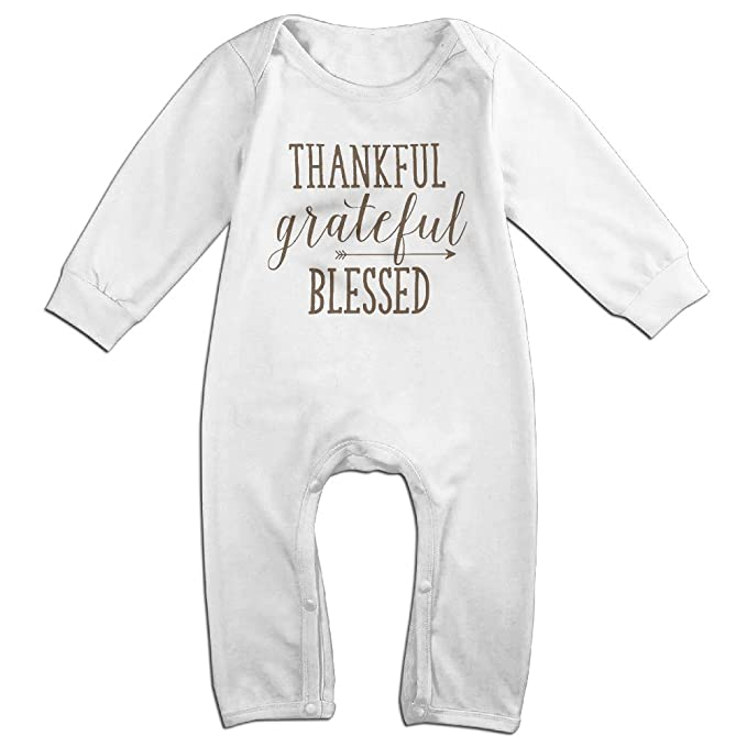 Amazon.com: Thankful Grateful Blessed bebé Onesie Romper ...