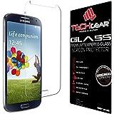 TECHGEAR® Samsung Galaxy S4 (i9500 / i9505) GLASS Edition Genuine Tempered Glass Screen Protector Guard Cover (Galaxy S4)