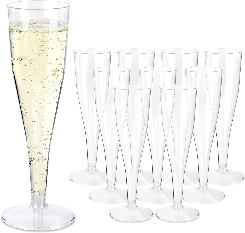 Sektgläser mit Füllstrich 0,1 l Sektflöten Sektglas Champagner Einwegbecher Sch.