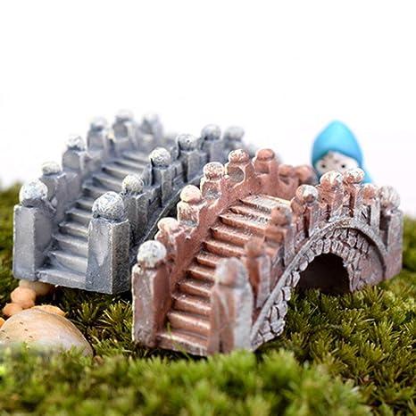 qingsb 2 Piezas de Puente de Arco Retro, pecera, Acuario, Micro Paisaje,