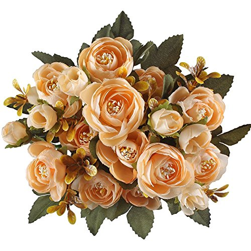sunangel 2 bunches artificial flower bouquet arrangement - Silk Arrangements For Home Decor 2
