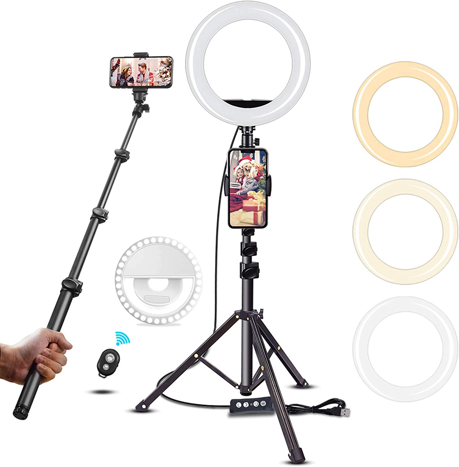 50% Off Deal – 40% Coupon Code + 10% Clipping Selfie LED Ring Light with Tripod & Cell Phone Holder