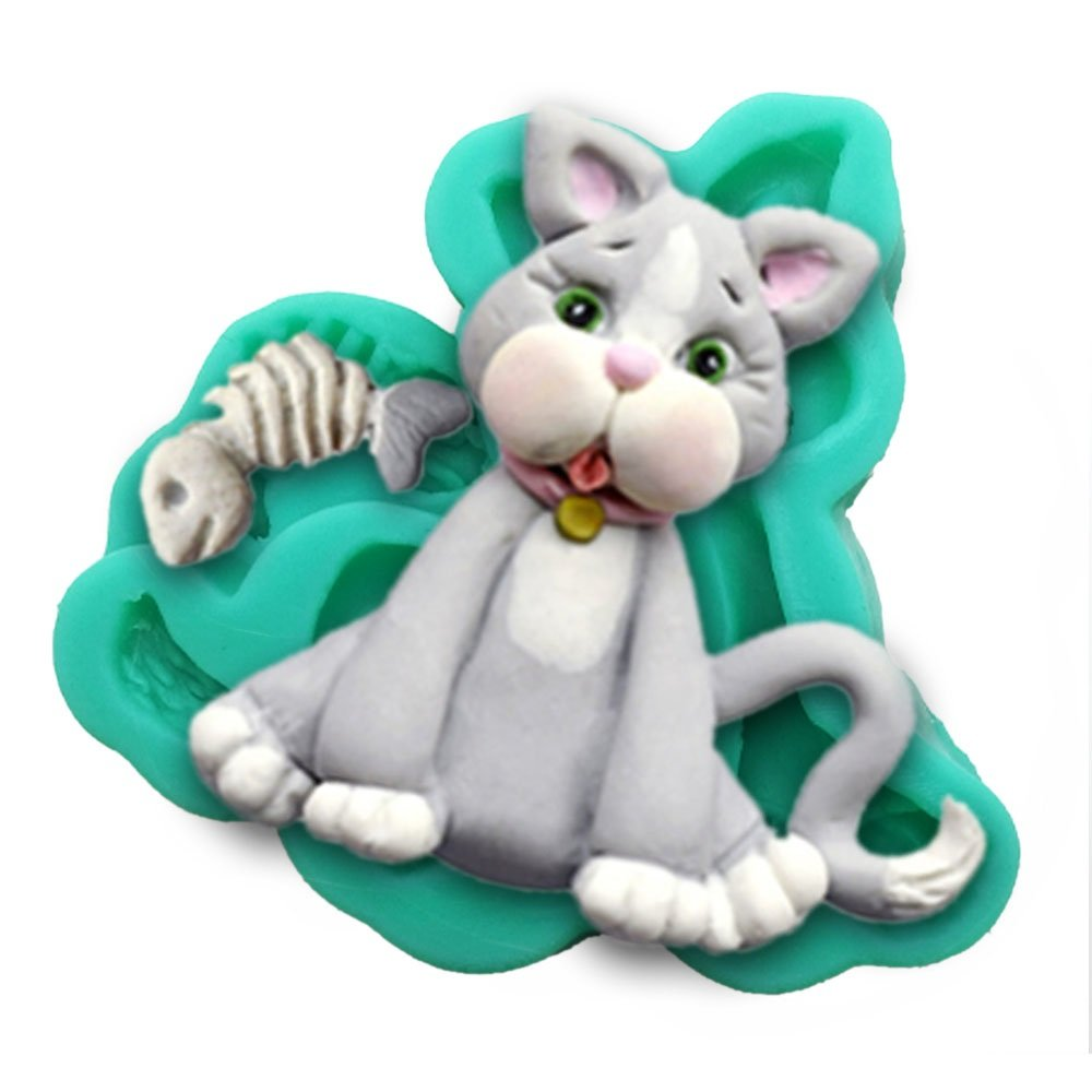 CAT Party 3D Silicone Mould Fondant Cake Decorating Topper Diyclan