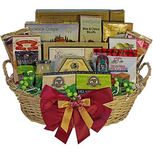 Grand Edition Gourmet Food and Snacks Gift Basket, Large (Candy Option)