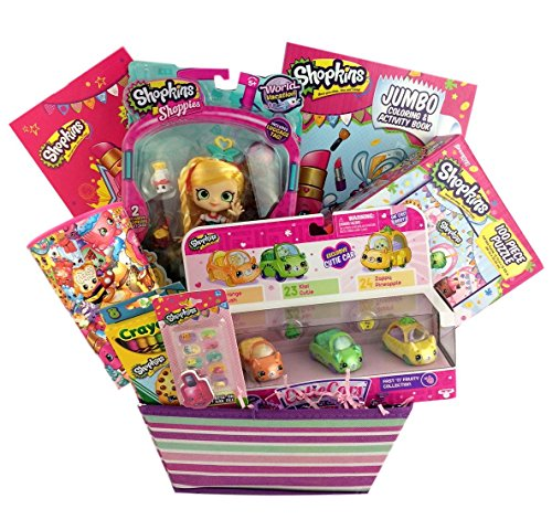 Italy Shopkin Shoppies Doll Cutie Cars Playset Gift Basket for Girl Birthday Get Well
