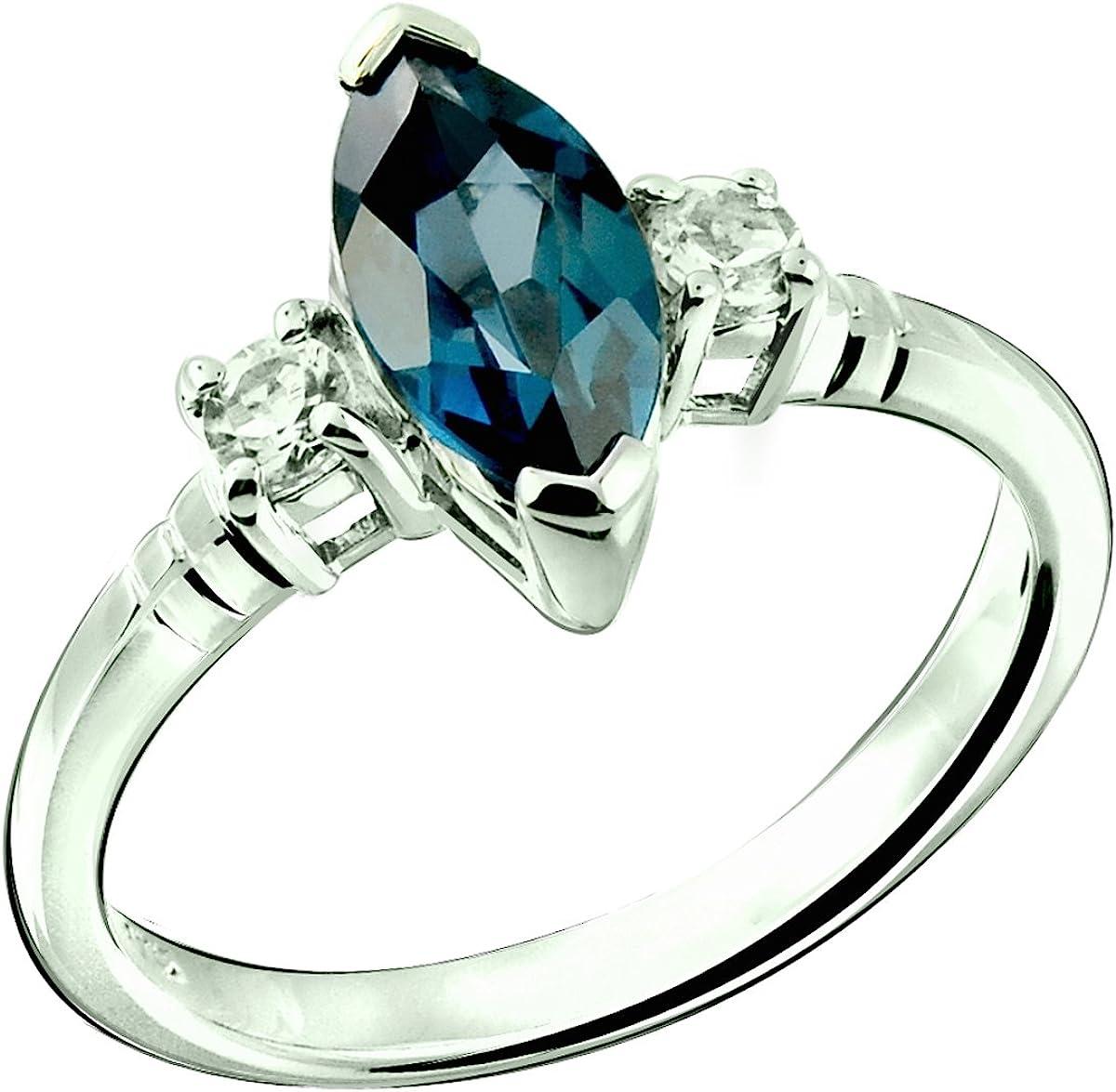 Appealing London Blue Topaz Gemstone 925 Sterling Silver Handmade Ring All Size
