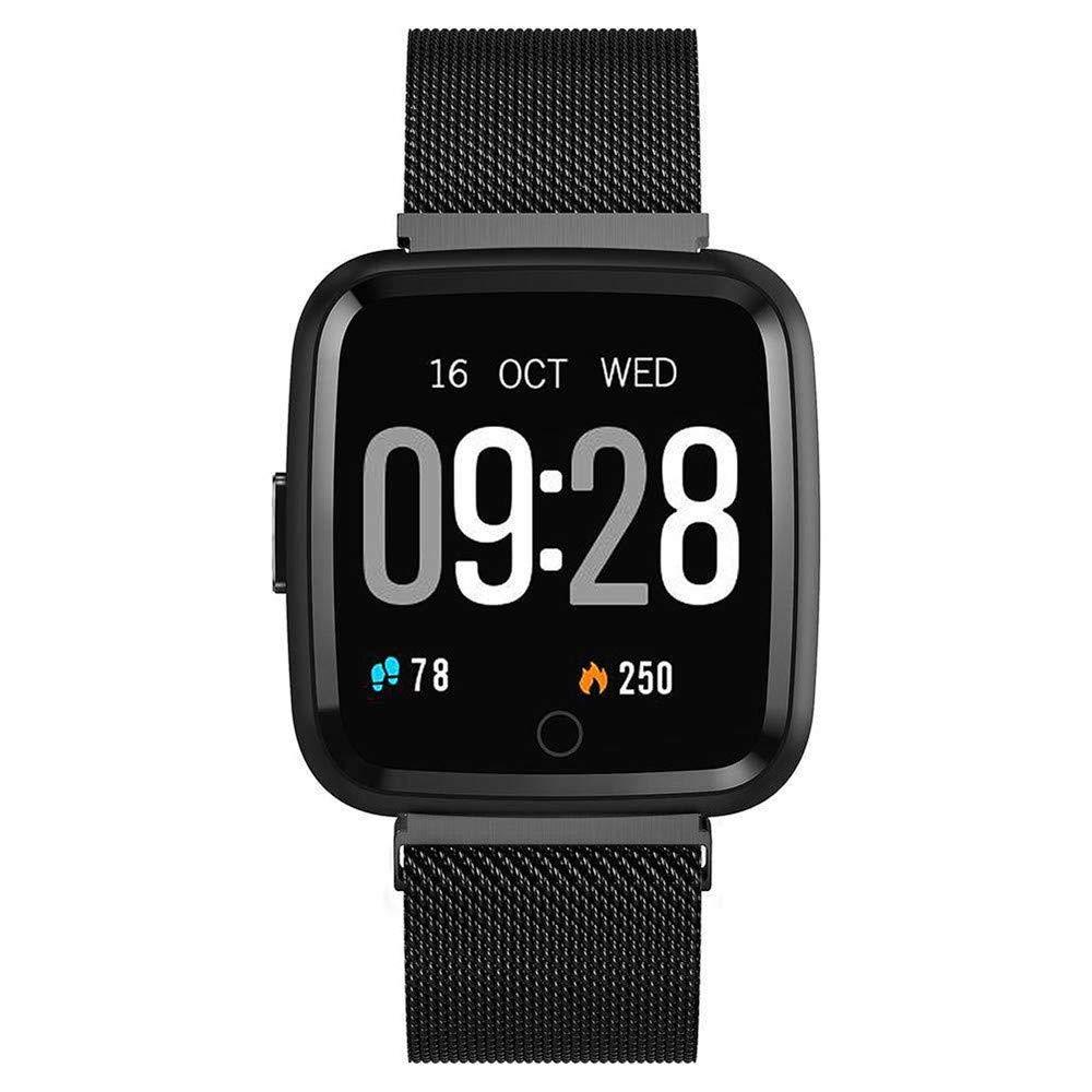 Vacio IP67 Waterproof Smartwatch,Fitness Heart Rate Tracker Monitor Blood Pressure Steel for Men Women Kids(Black) by Vacio