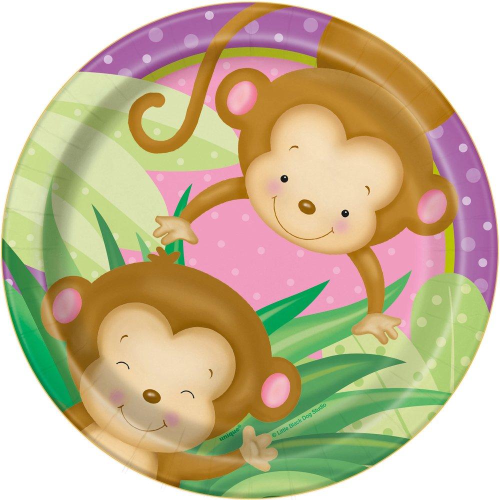 16ct Girl Monkey Baby Shower Cocktail Napkins