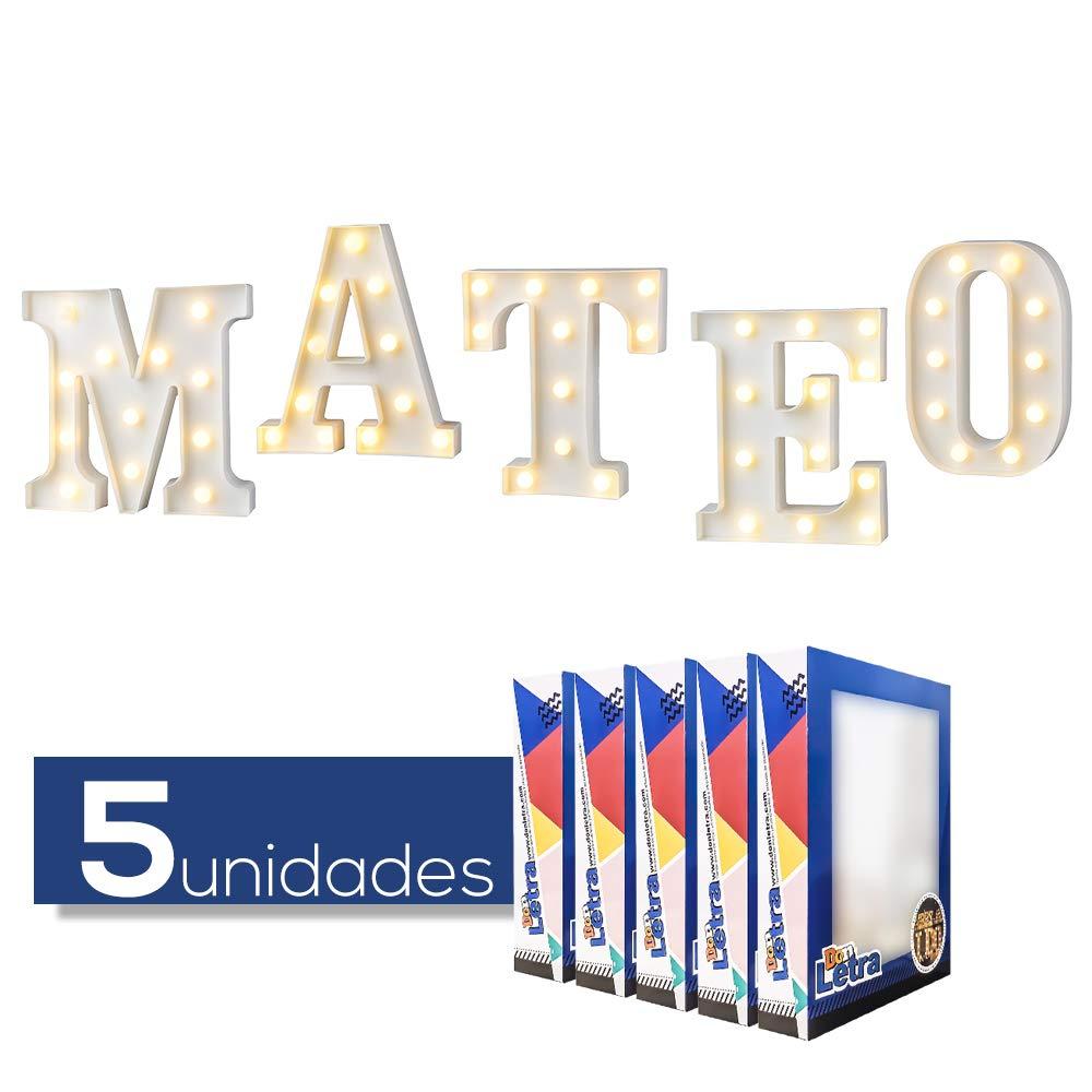 DON LETRA Nombres Españoles de Chicos y Chicas, Letras Luminosas Decorativas con Luces LED, Ideales para Mesa y Mesilla, Pared, Dormitorio Infantil, ...