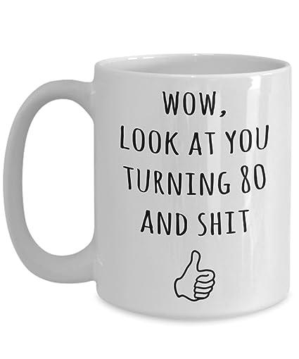 Amazon Funny 80th Birthday Mug For Men And Women