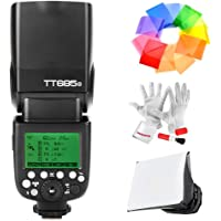 Godox TT685O 2.4G TTL Flash for Olympus Panasonic Cameras GN60 HSS 1/8000s 0.1-2.s Recycle Time 230 Full Power Flashes 22 Steps of Power Output - With PERGEAR Cleaning Kit and Color Filters