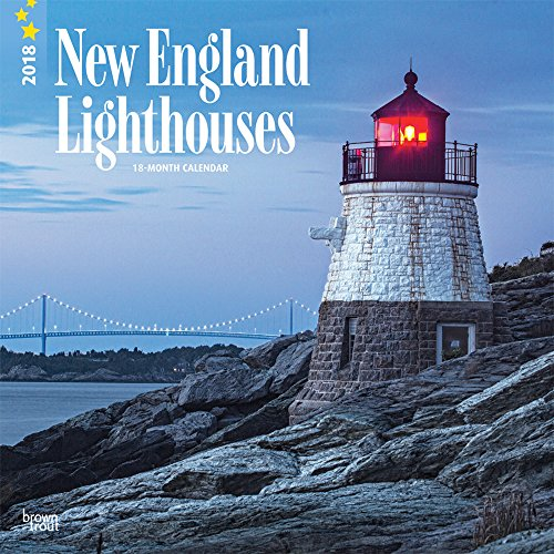 Lighthouses, New England 2018 12 x 12 Inch Monthly Square Wall Calendar, USA United States of America East Coast Scenic Nature (Multilingual Edition) - East Coast Lighthouses