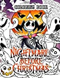 Nightmare Before Christmas coloring book: Tim Burton Story Cartoon Coloring Book For Adults Kids Creativity Gift