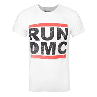 0d69f705 Amazon.com: Amplified Official Mens Run DMC Logo T-Shirt: Clothing