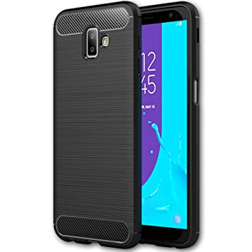 sale retailer 4207b 112b7 Samsung J6 Plus Phone case, UCMDA Slim Fit Shockproof Silicone case [Carbon  Fiber Design], Soft TPU Shock Absorbing [Rugged Armor] Protective Phone ...
