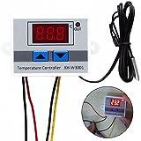 JZK® 220V Thermostat de contrôleur de température numérique de chauffage et de refroidissement avec sonde de capteur NTC imperméable à l'eau pour réservoir d'eau, réfrigérateur, incubateur, chaudière, vapeur, congélateur, etc.