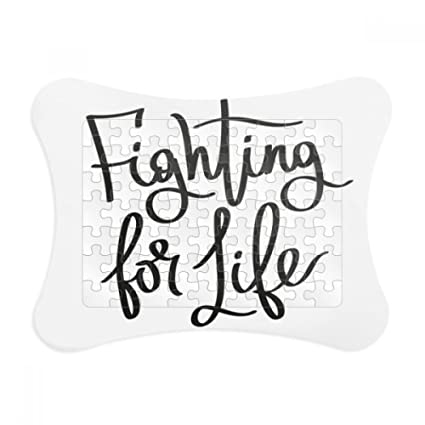 Amazon.com: Fighting for Life Quote Paper Card Puzzle Frame Jigsaw ...