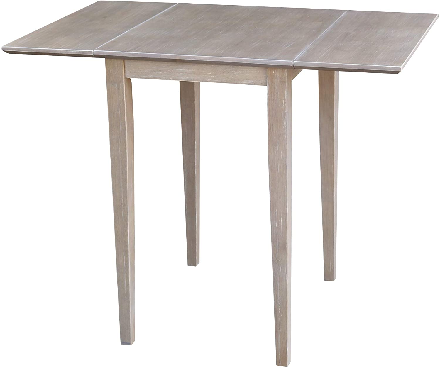 International Concepts Small Dropleaf Table, Washed Gray Taupe
