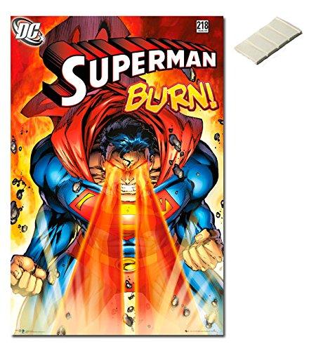 Bundle - 2 Items - Superman Burn DC Comics Poster - 91.5 x 6