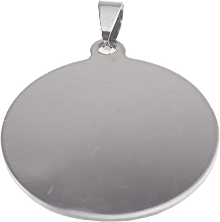 Round 34mm 10 Stainless Steel Stamping Blanks Charms Dog Tag Blank Discs Etching Blank Engraving Blank