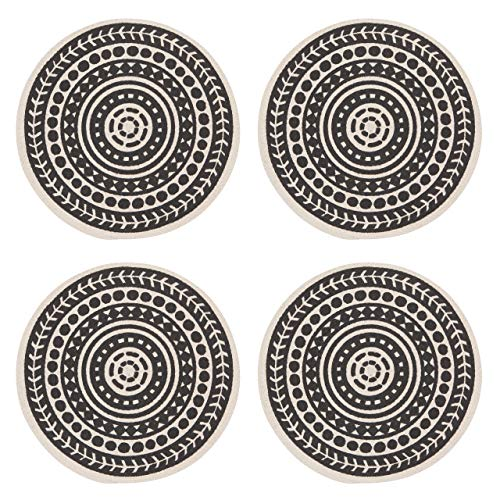 Now Designs 1035009aa Round Braided Cotton Placemats, Set of Four Canyon Design (Mat Design)
