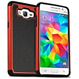 Samsung Galaxy A5 2015 Rugged Impact Heavy Duty Dual Layer Shock Proof Case Cover Skin - Red