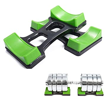 gymforward 1 par mancuernas Rack soporte de pesas levantamiento de pesas soporte de suelo, Verde: Amazon.es: Deportes y aire libre