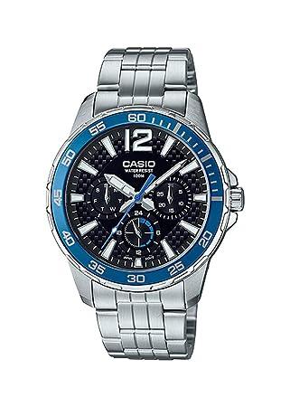 Casio MTD330D-1A2V - Reloj Deportivo para Hombre (Acero Inoxidable, 50 m, Esfera Negra): Amazon.es: Juguetes y juegos