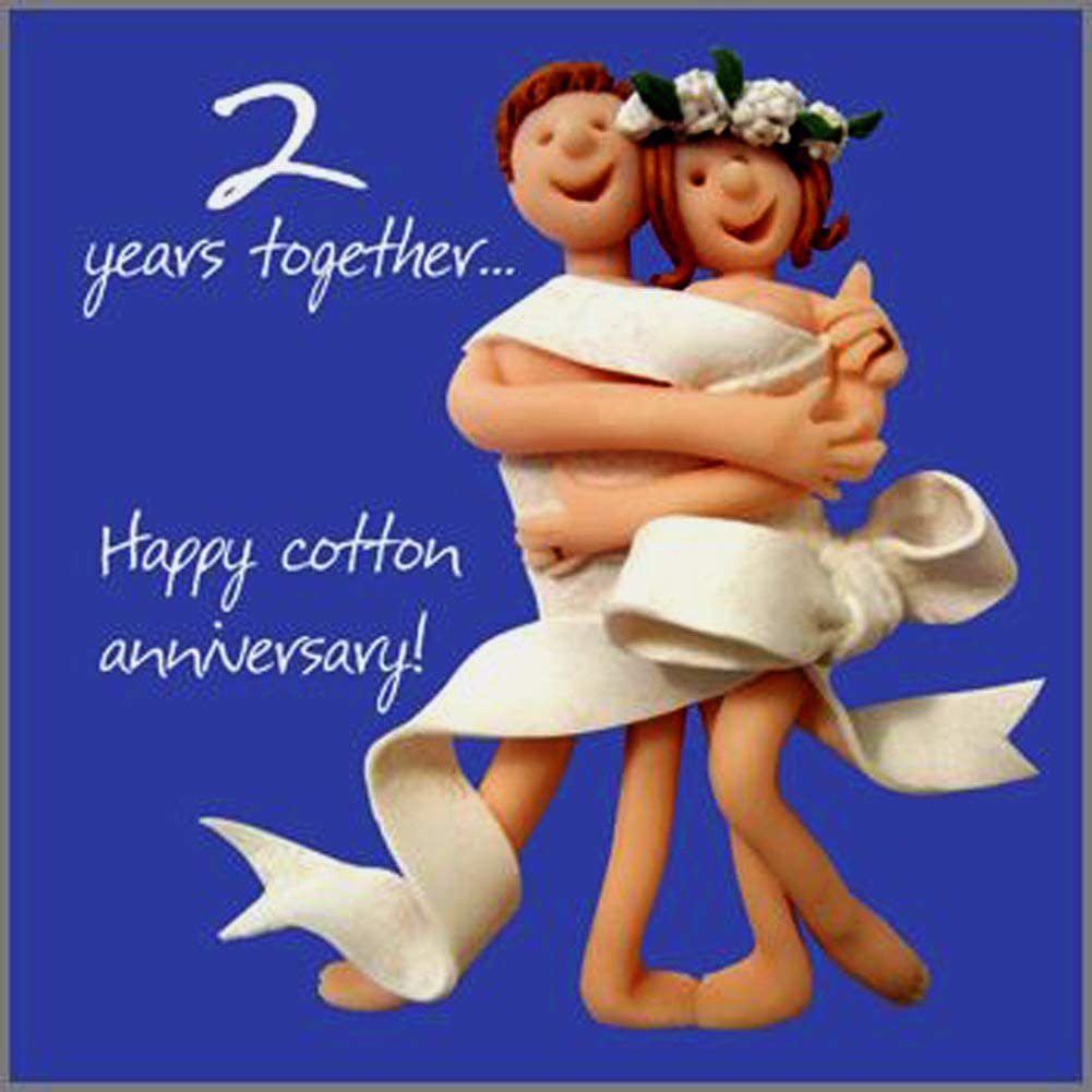 4nd Wedding Anniversary Card