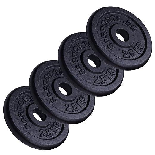 29 opinioni per ScSports- 4 Dischi da 2,5 kg per pesi, in ghisa