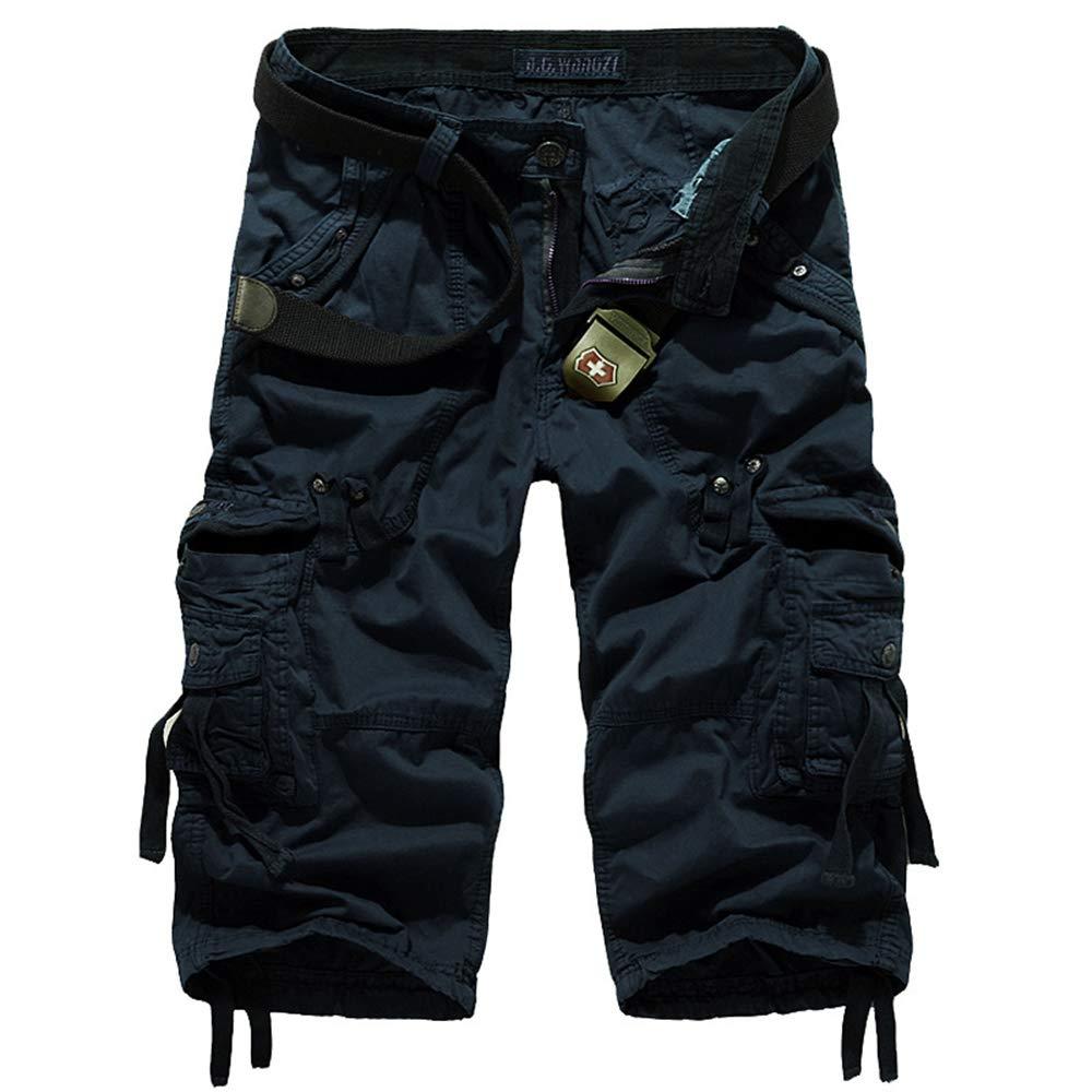 Vendredinoir Pantalones Casuales De Los Hombres Ocasionales Pantalones Casuales De Los Hombres Pantalones De Gran Tama/ño Pantalones De Carga Pantalones De Carga Casuales De Algod/ón con M/últiples Bols