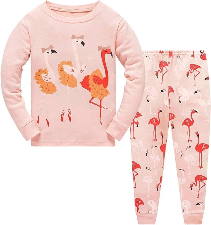 Little Girls Pajamas 2 Piece Sets 100/% Cotton Long Sleeve Autumn Sleepwear for Kids 2 3 4 5 6 7 T