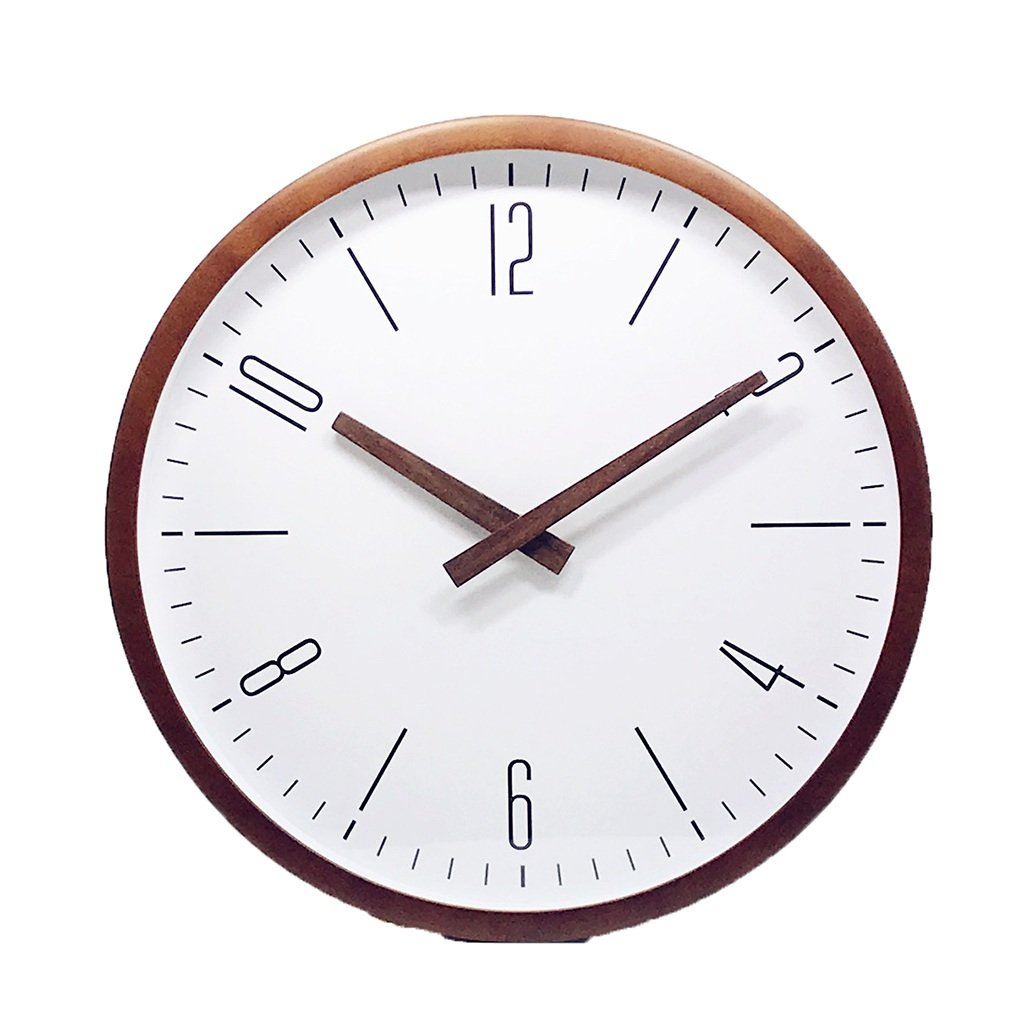 XZG 書店の壁時計、(30-35CM)スタディ教室コーヒーショップウォールクロック丸型木製の壁時計 人生の場所を判断する (色 : C, サイズ さいず : 30*30CM) B07F614BPK 30*30CM C C 30*30CM