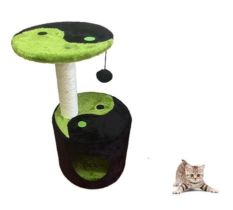 Ducomi® Napoleón – tiragraffi Parque Juegos para gato de sisal natural con amplia base y