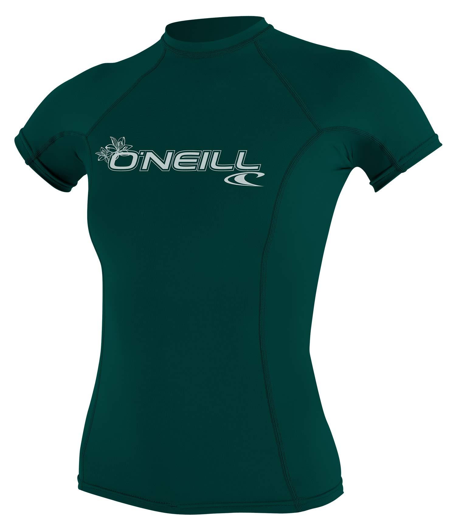 O'Neill Women Basic Upf50+ S/S Tops, Deep Green, XS by O'Neill Wetsuits