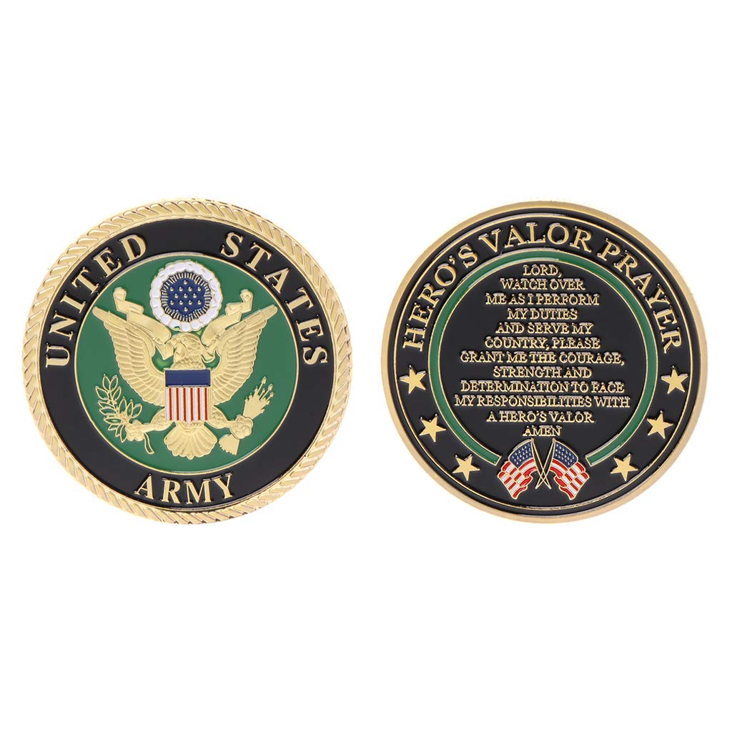 oukerst Gold Plated United States Army Commemorative Coin Souvenir Challenge Collectible Coins Collection Art Craft Gift