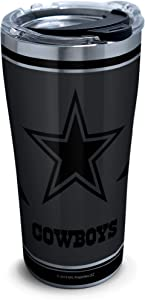 Tervis NFL 100-Dallas Cowboys Stainless Steel Insulated Tumbler with Clear and Black Hammer Lid, 20 oz, Silver