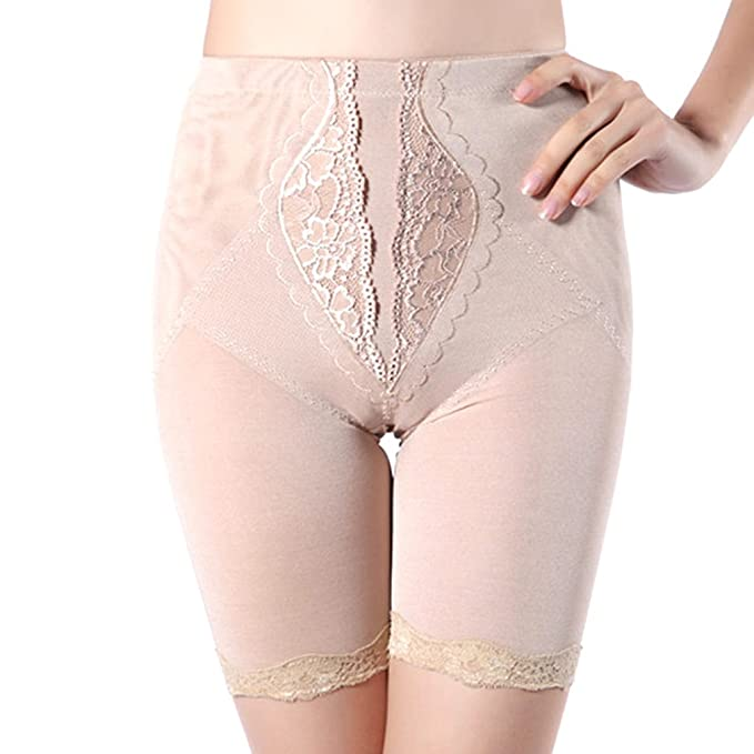 b0c0e588e7d38 AVENBER Women Underwear Mid Waist Shapewear Sexy Lace Body Shaper Tummy  Control Panties at Amazon Women s Clothing store