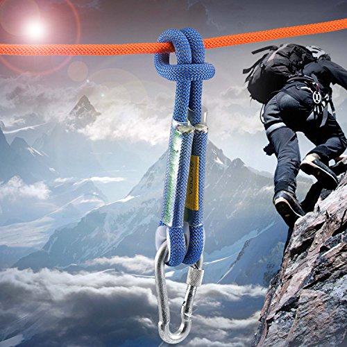 "Outdoor Rock Climbing Diameter 10.5mm (2/5"") Prusik Swen Eye to eye Pre Sewn 24 inch / 40 inch"