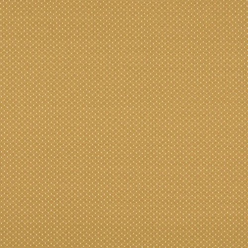 A164 Gold Two Toned Dots Upholstery Fabric by The Yard ()