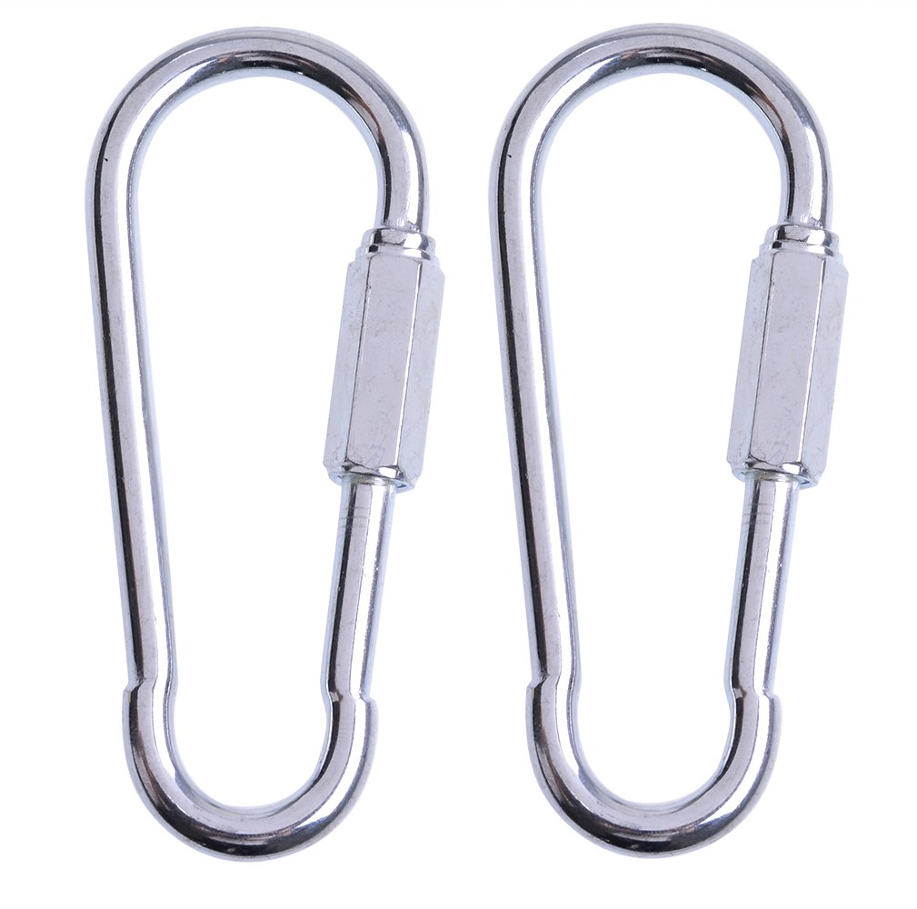 AGPtek 1 Pair Quick Link Snap Hook Carabiner Connector Screw Lock Clip For Swing Play Set