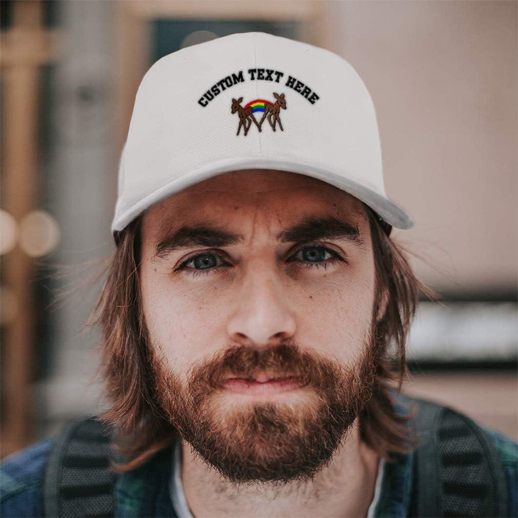 Custom Baseball Cap Fawns Embroidery Dad Hats for Men /& Women Strap Closure