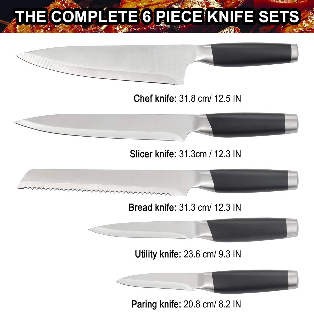 grilljoy Juego de Cuchillos Professional de una Pieza de ...